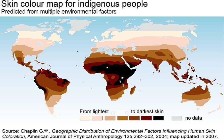 Skin color map